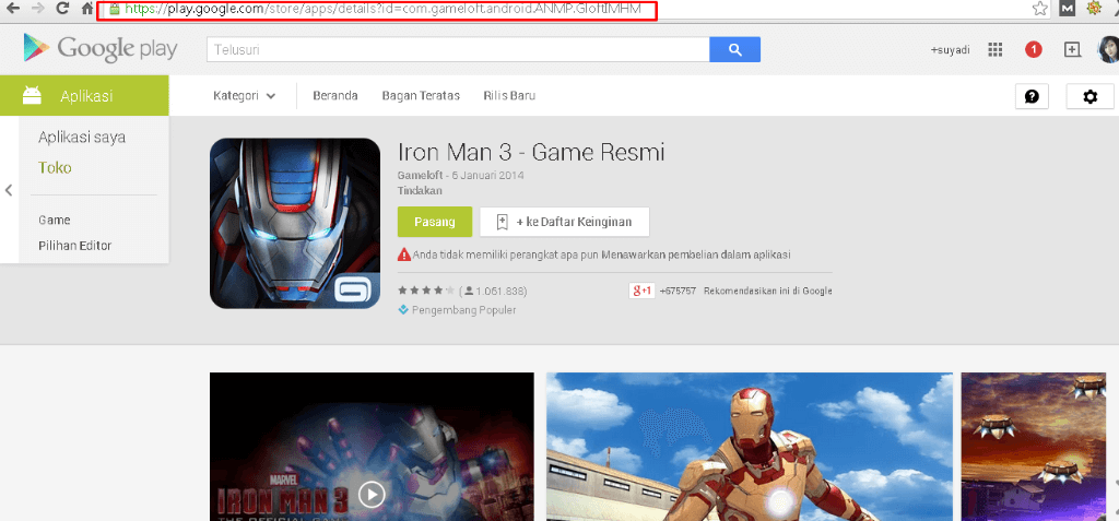 cara download aplikasi android lewat pc google chrome